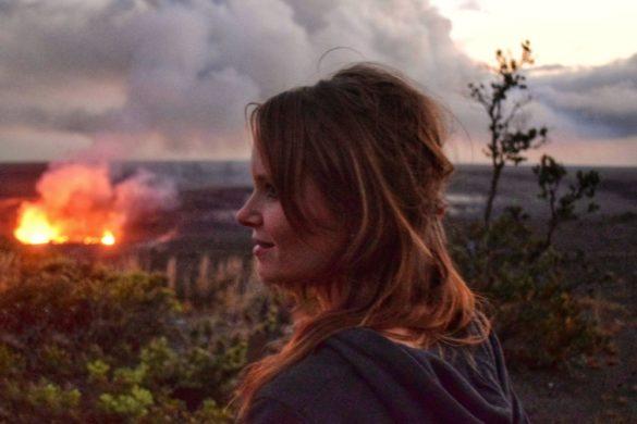 Looking out at Kilauea Volcano, Hawaii