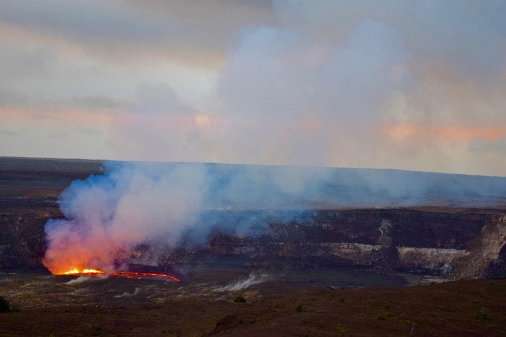 Kilauea Volcano errupting, Hawaii