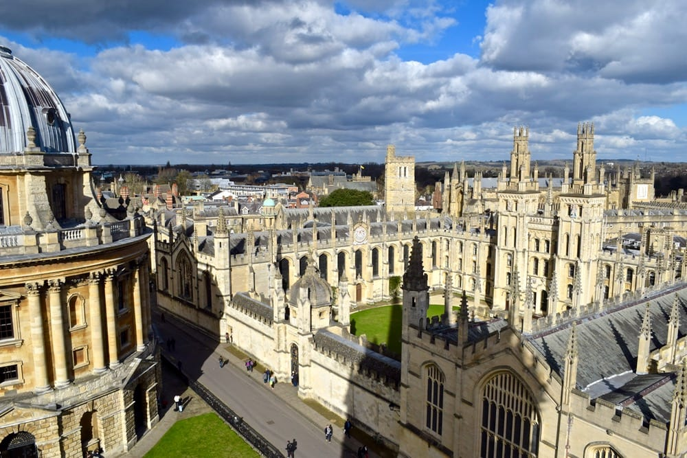 View of All Souls College from St Mary The Virgin Tower, Oxford