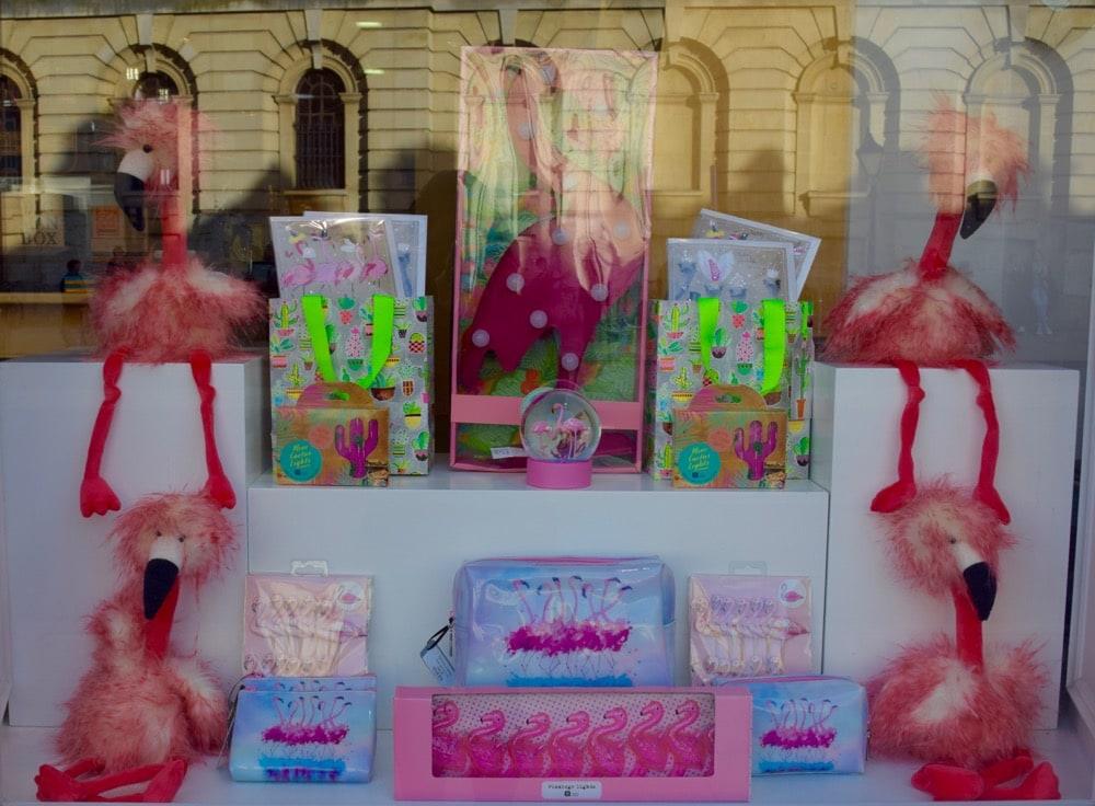 Fun window displays at Babylon, Oxford