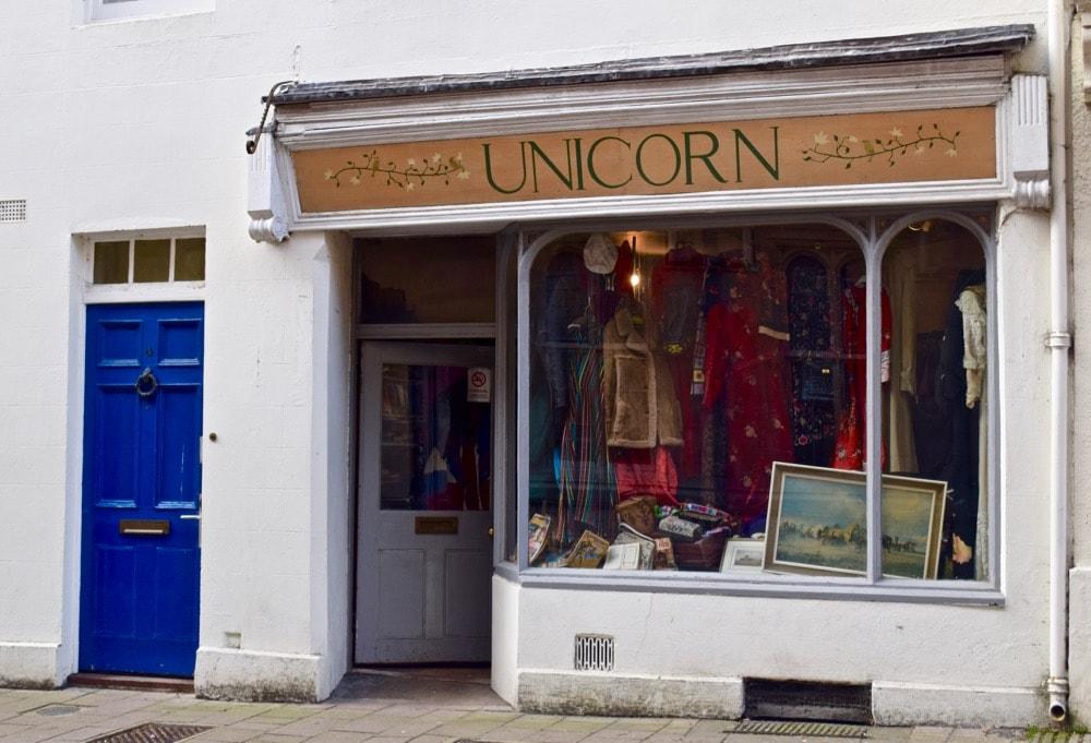 Unicorn vintage store, Oxford