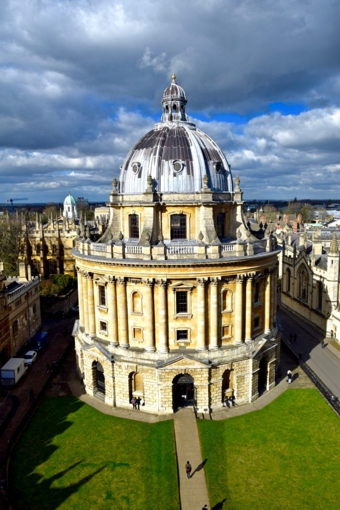 View of Radcliffe Camera from St Mary The Virgin Tower, Oxford