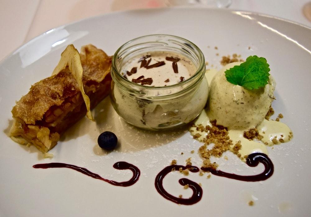Dessert at Rakar, Slovenia
