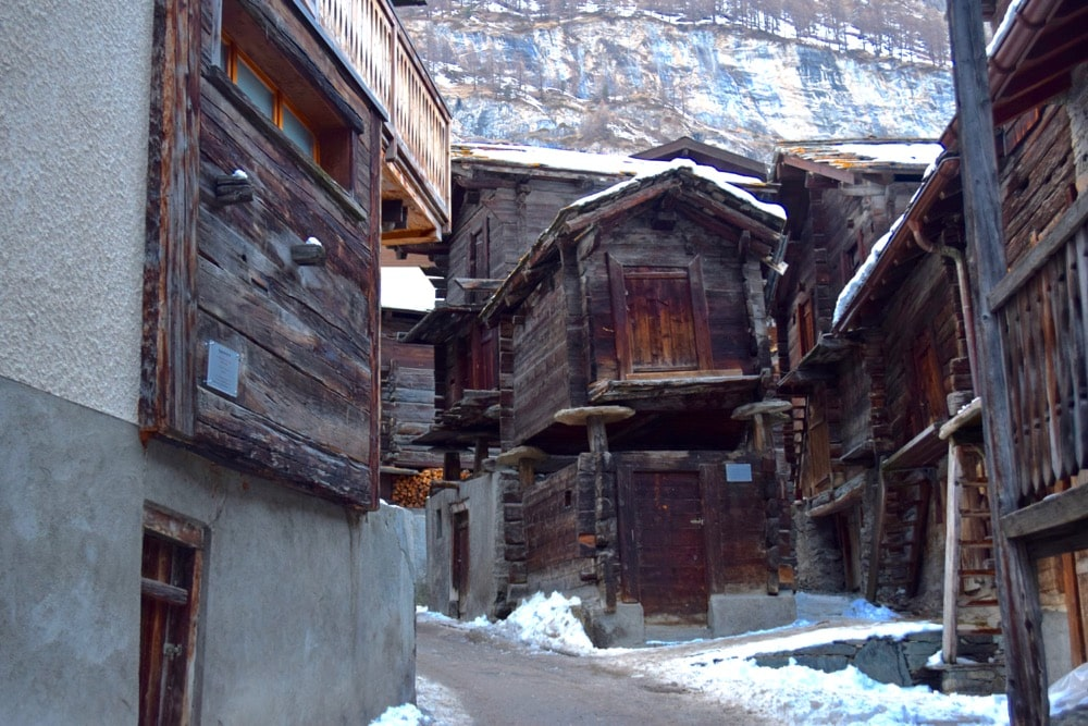 Zermatt's old village, Switzerland