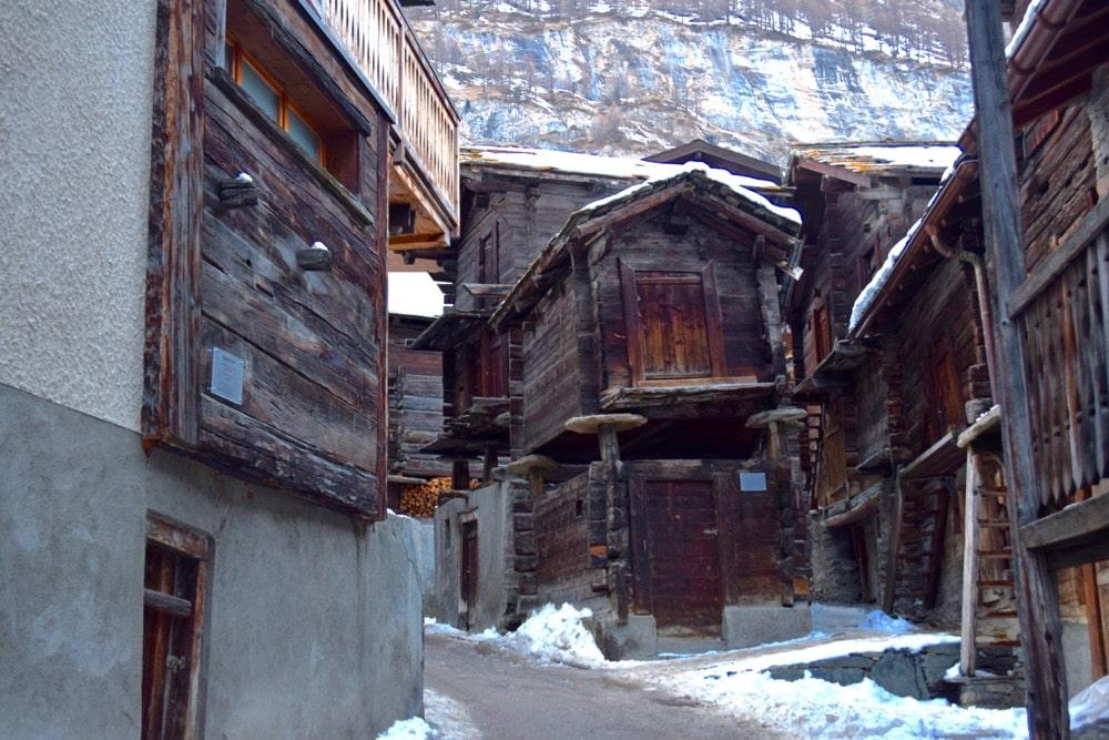Zermatt's old village, Switzerland