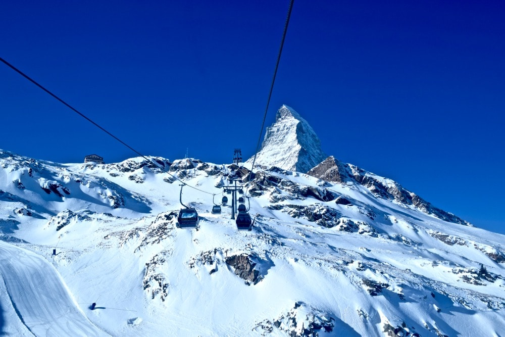 Stunning views of the Matterhorn from the cable car