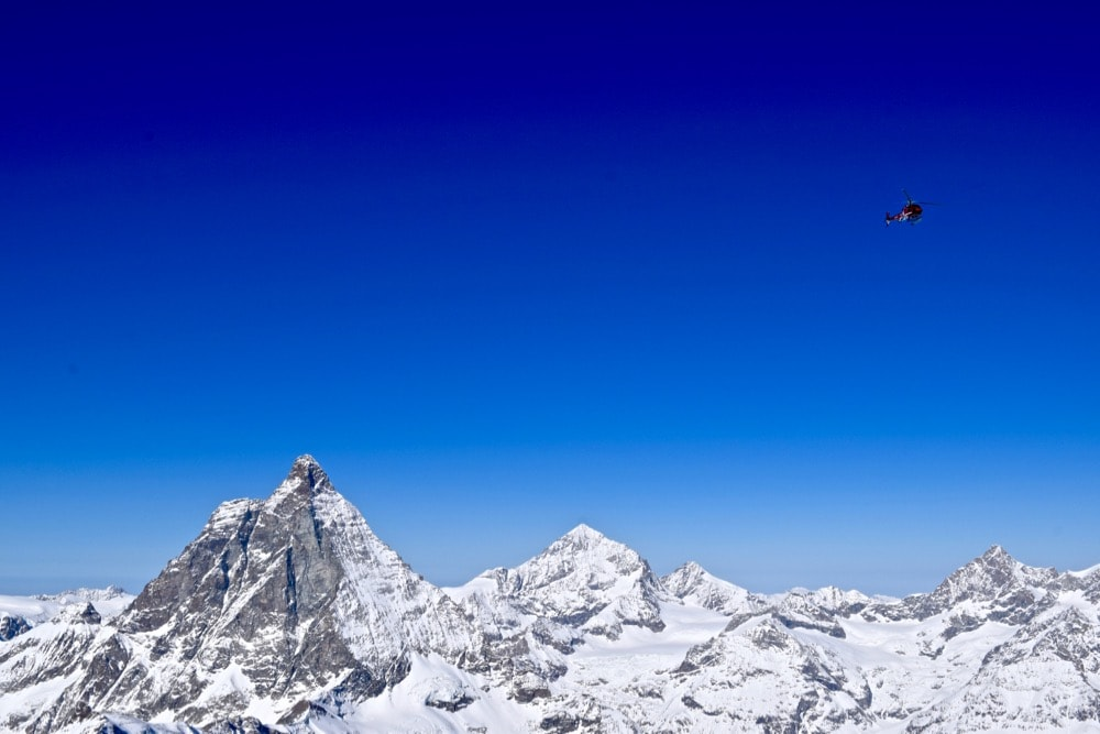 Helicopter tours near the Matterhorn, Zermatt, Switzerland