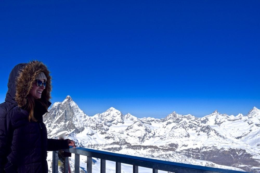 Enjoying the views at Matterhorn Glacier Paradise, Zermatt, Switzerland