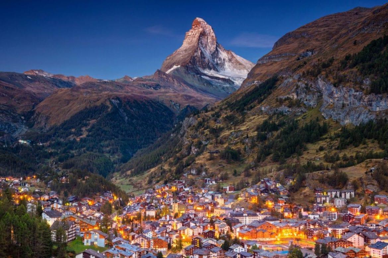 Zermatt at night, Switzerland