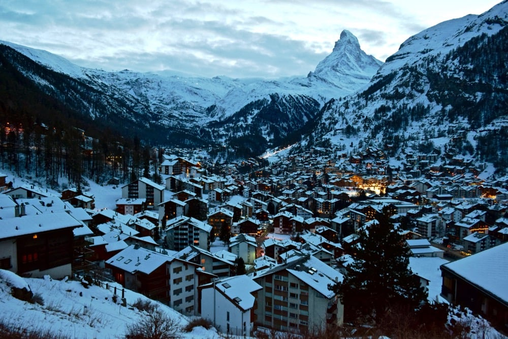 Views over Zermatt, Switzerland