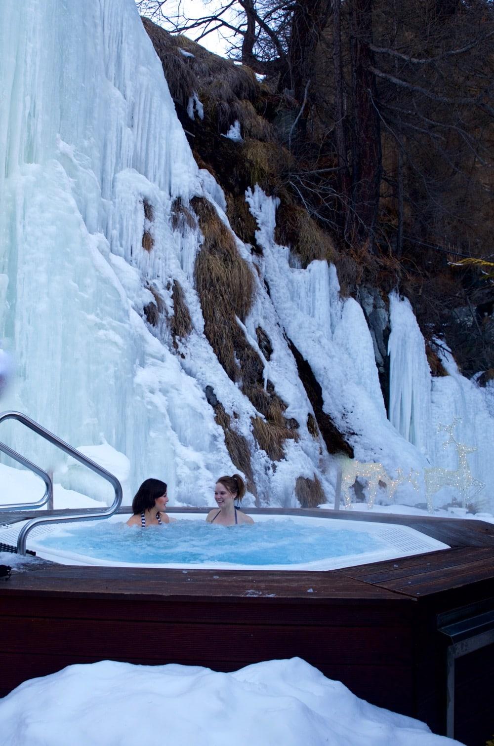 Jacuzzi time at Hotel Sonne Zermatt, Switzerland