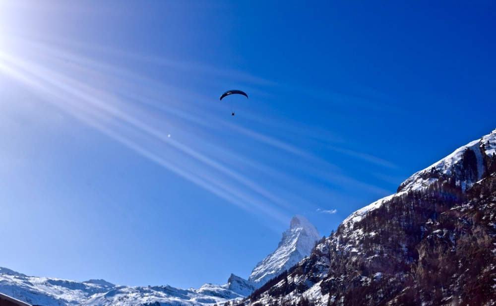 Paraglider in Zermatt, Switzerland