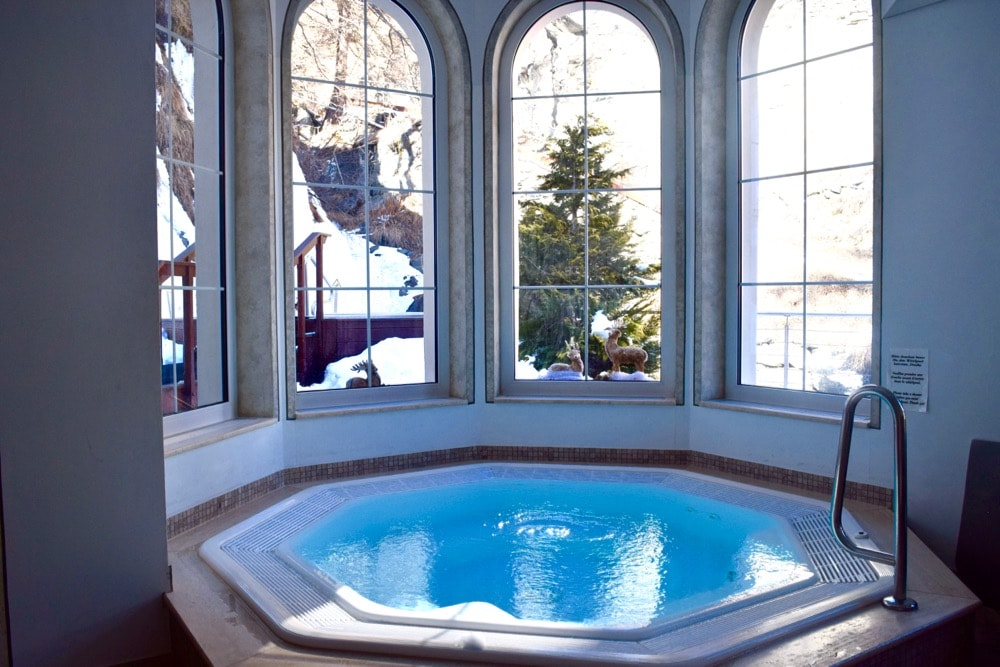 Jacuzzi at Hotel Sonne Zermatt, Switzerland