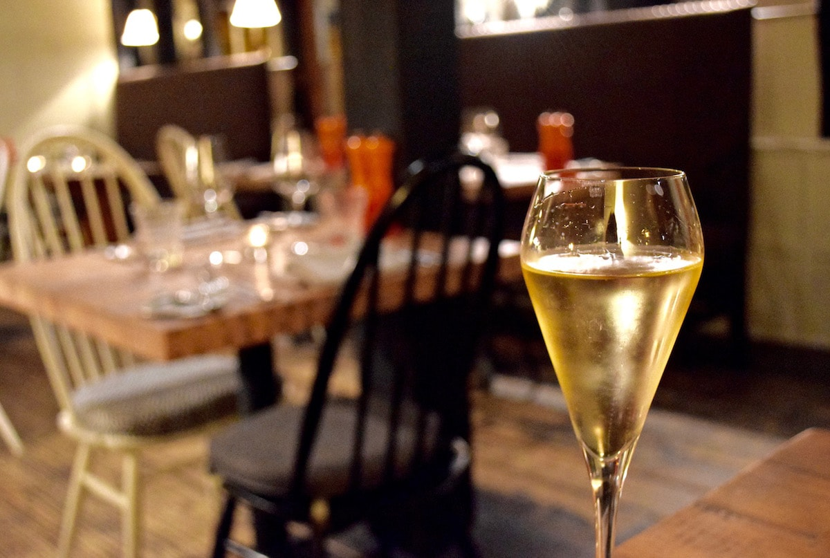 Champagne at Hawkyns Restaurant, Amersham