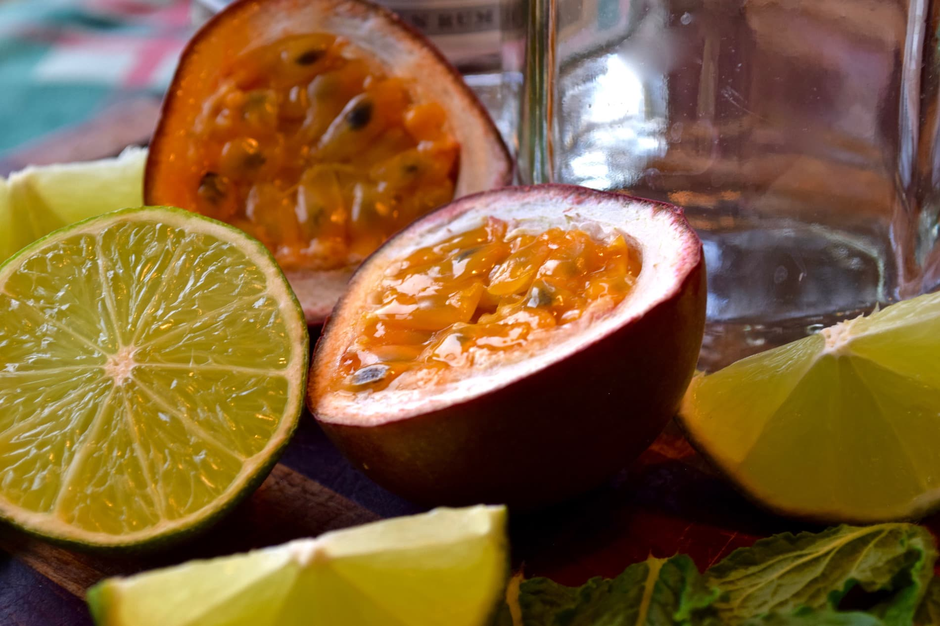 Passion fruit and limes