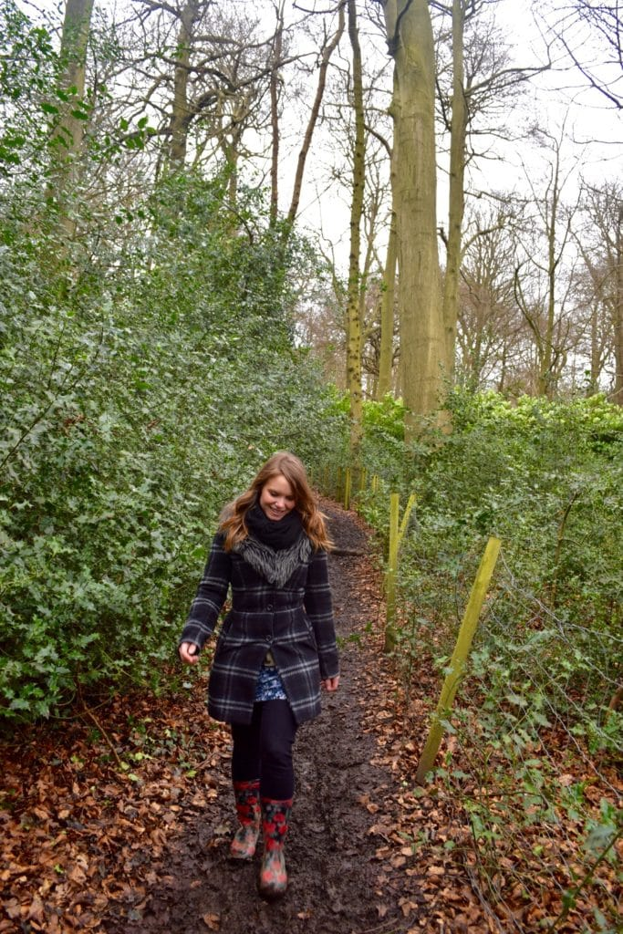 Enjoying a country walk in the Chilterns