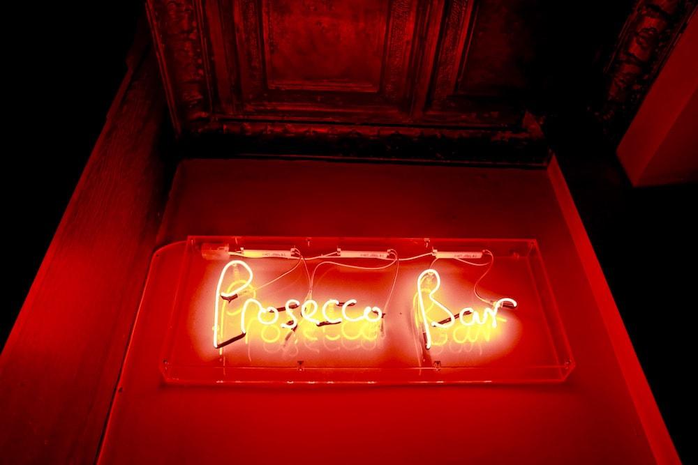 Prosecco bar sign at Polpo, Notting Hill