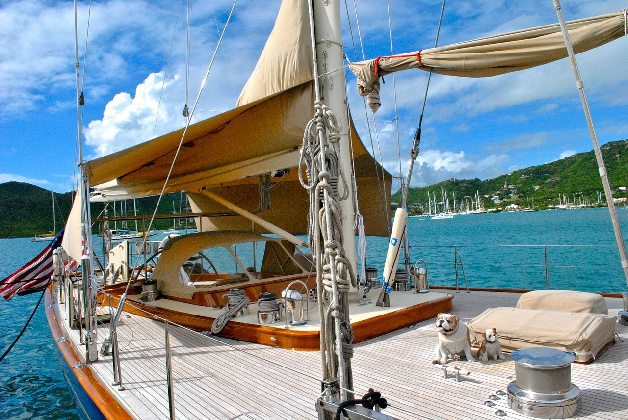 Sailing yacht in Antigua