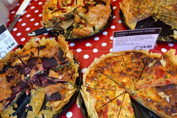 How good do these tarts look at Hampstead Market?