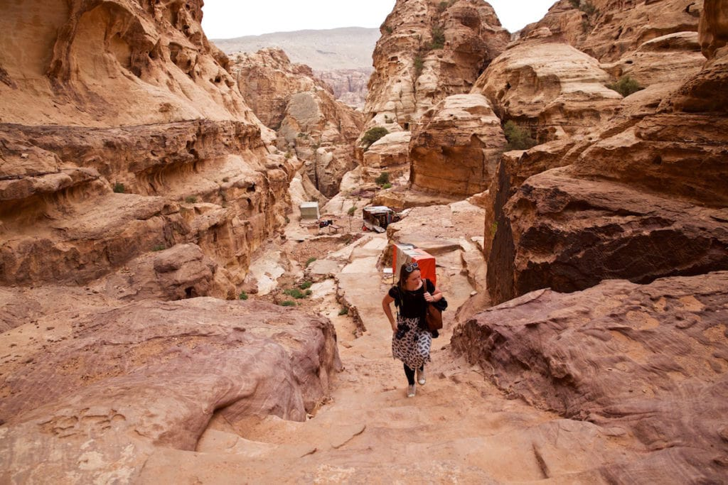 Trekking through Petra, Jordan