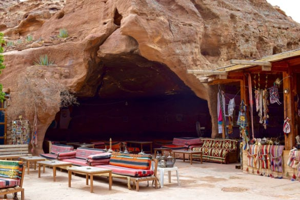 Cave cafe by The Monastery in Petra, Jordan