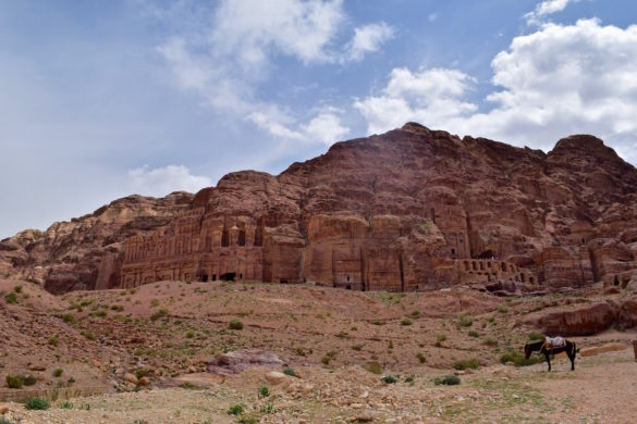 Amazing ancient caves and tombs at Petra, Jordan