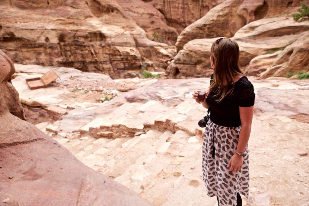My outfit for exploring Petra, Jordan