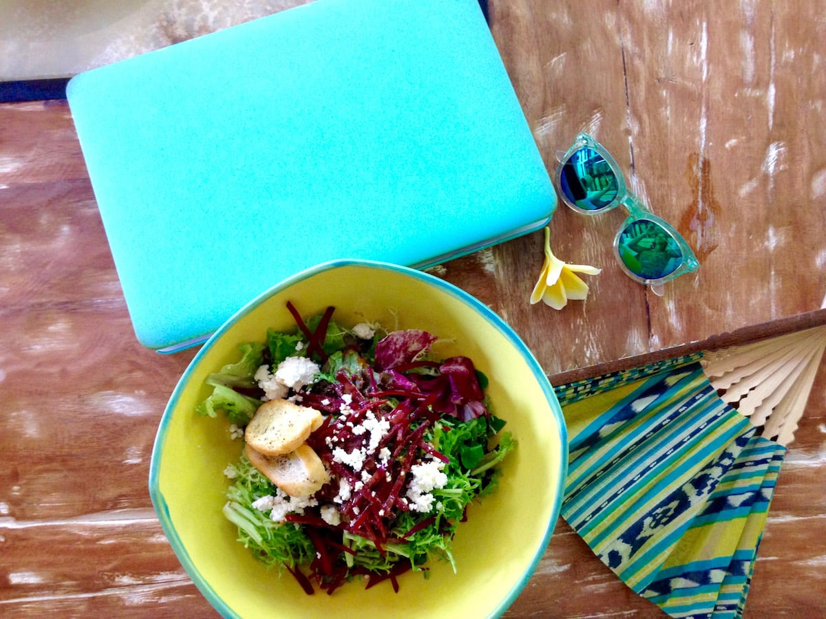 Tasty salad for lunch at Clean Cafe, Ubud, Bali