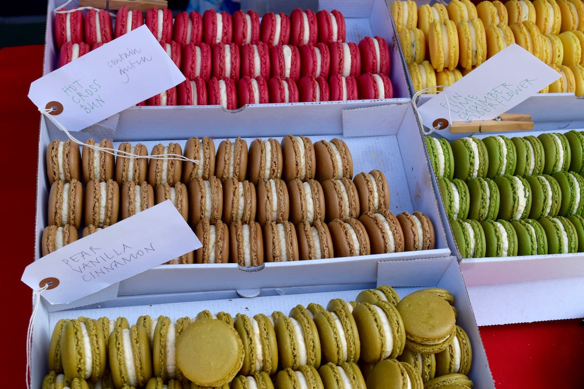 Macaroons for sale at Hampstead Market