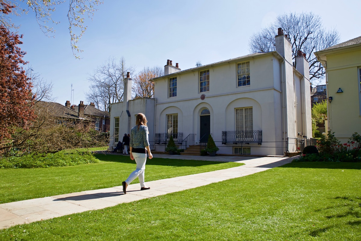 Checking out Keats's House in Hampstead