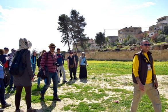 Tourists at Jerash, Jordan