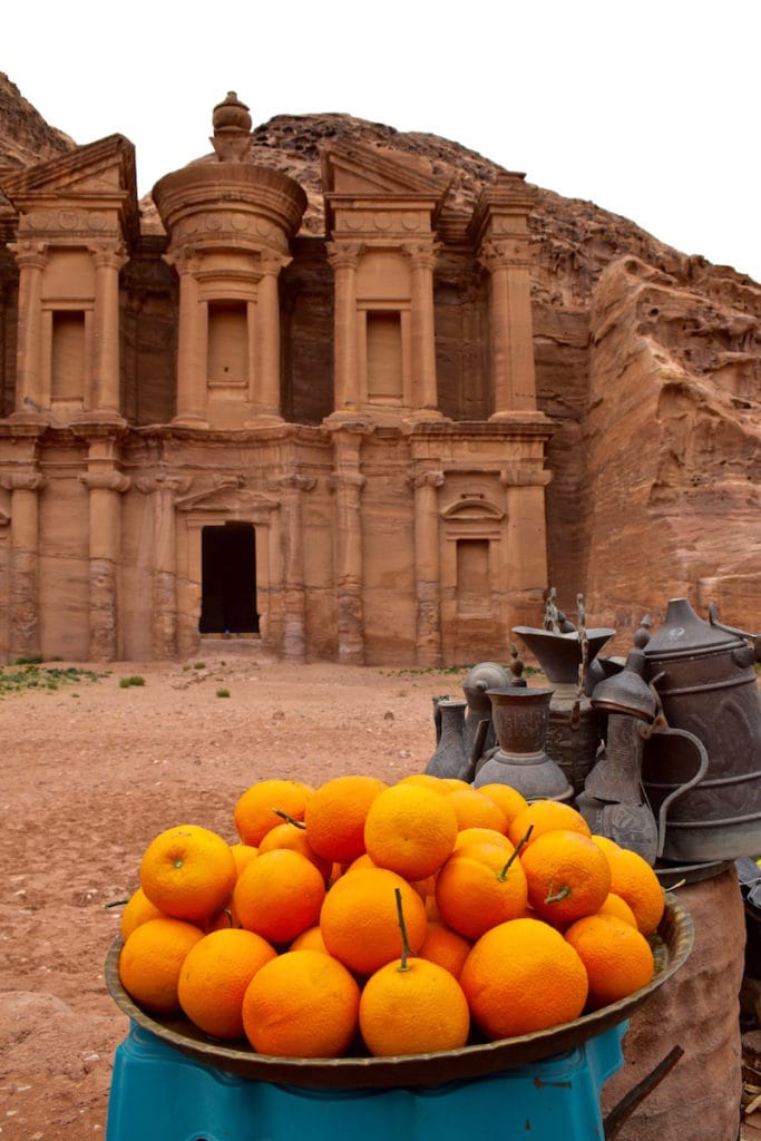Oranges in front of The Monastery