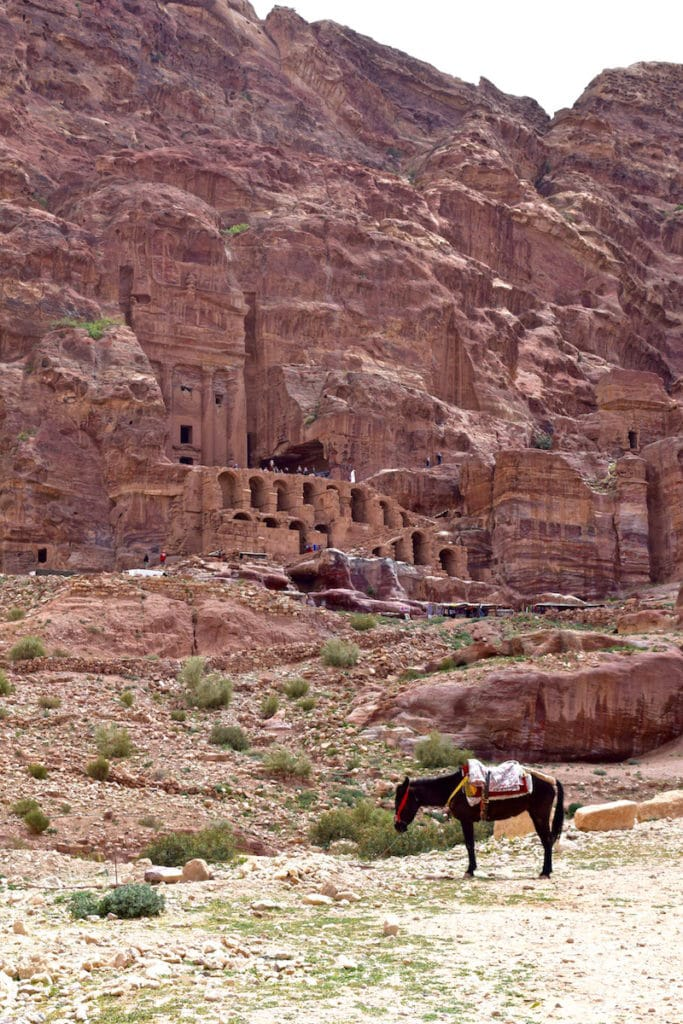Amazing ancient caves and tombs at Petra, Jordan