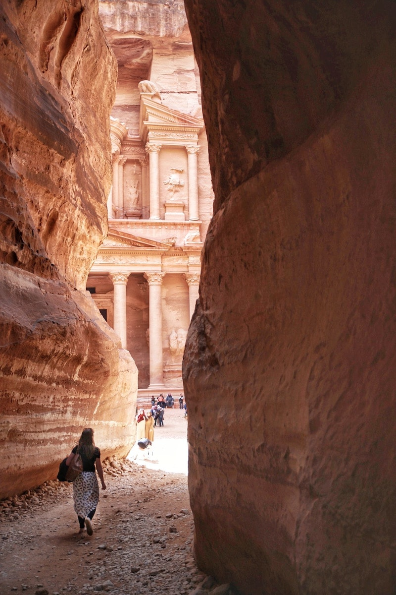 classic fit cdfd3 b35db View of The Treasury from The Siq, Petra, Jordan (Photo  Macca Sherifi)