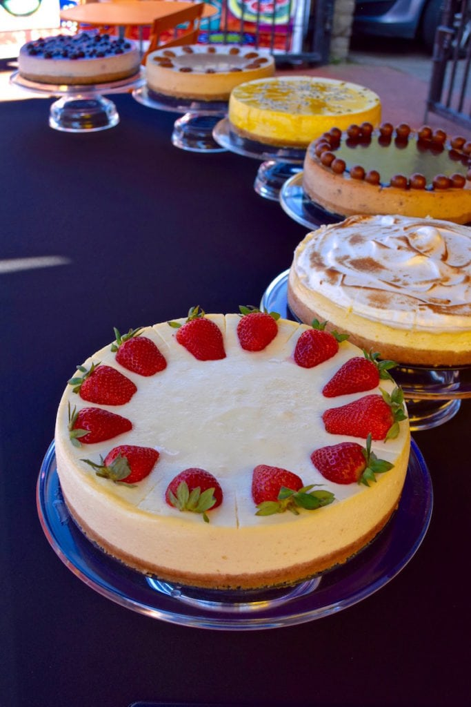 These cheesecakes look tasty at Hampstead Market