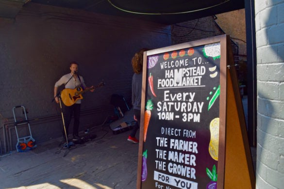 Live music at Hampstead Market