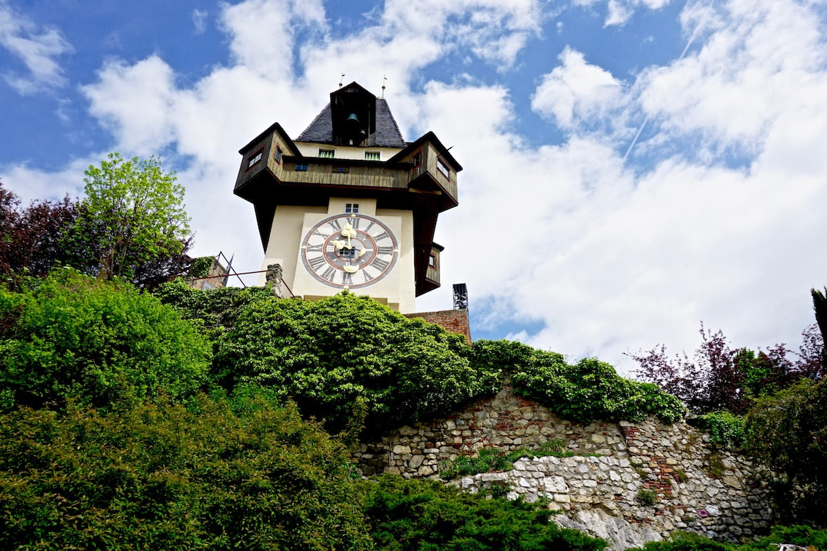 Graz's famous clock tower