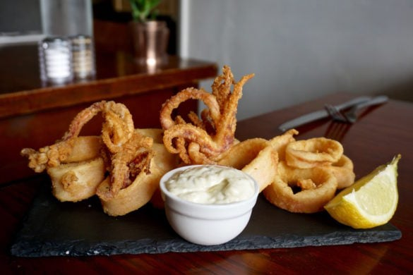 Calamari at Rock A Nore Kitchen, Hastings
