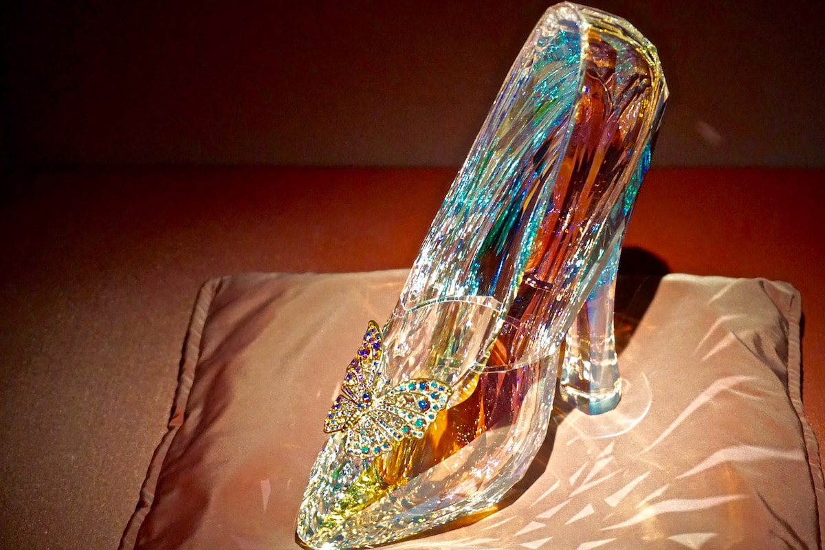 Cinderella's slipper at Crystal Forest at Swarovski Crystal Worlds, Austria