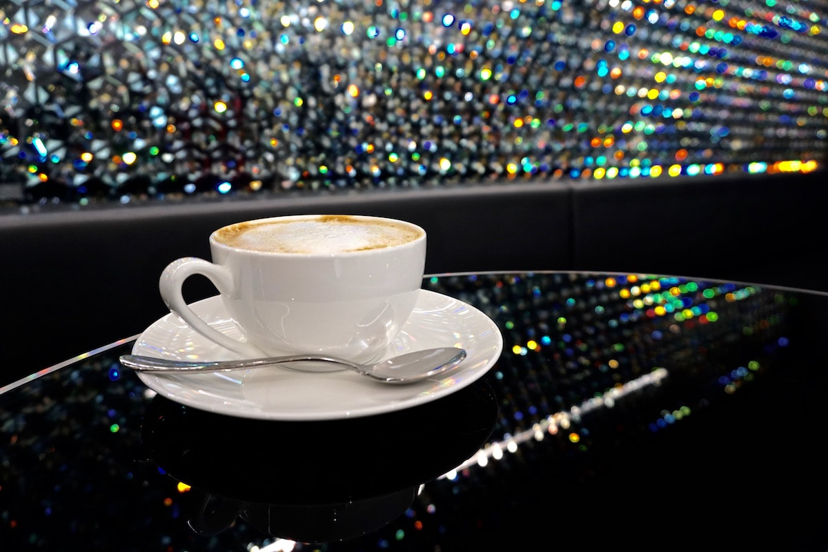 A blingy spot for a coffee at Swarovski Crystal Worlds, Austria