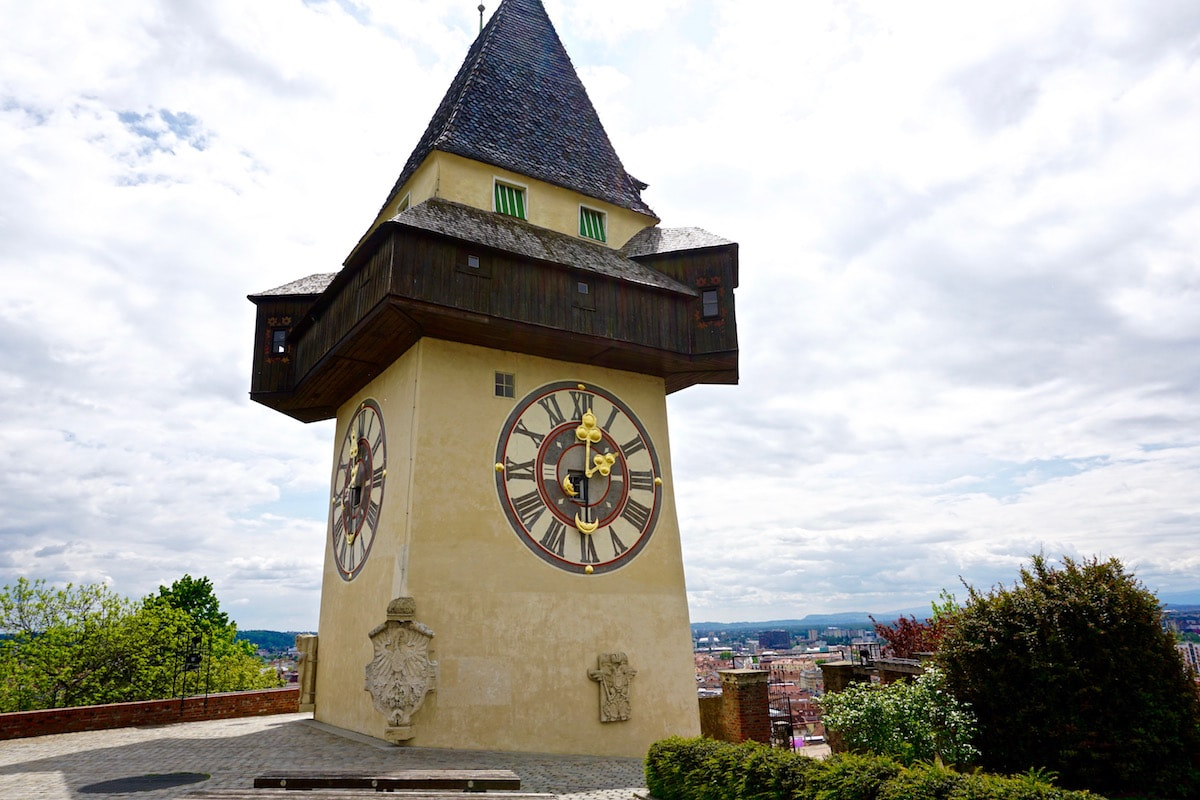 Looking great from every angle! Graz's famous clock tower