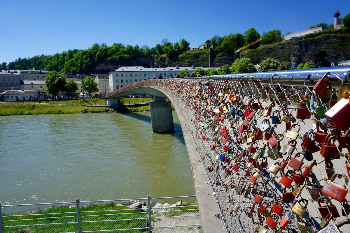 The lock bridge - aka Makartsteg Bridge, Salzburg, Austria