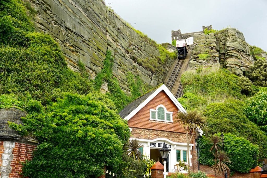 East Hill Lift funicular railway in Hastings
