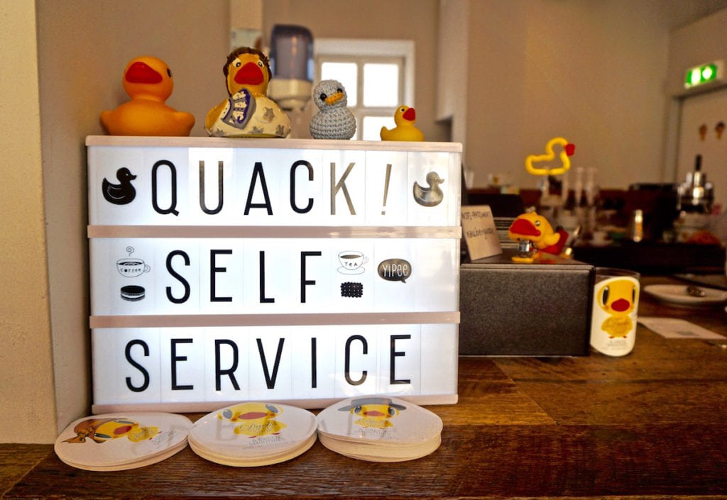 How cute is Ducks Coffee Shop in Graz
