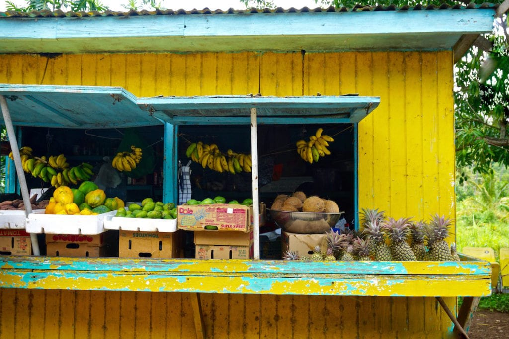 Colourful fruit shack in Antigua