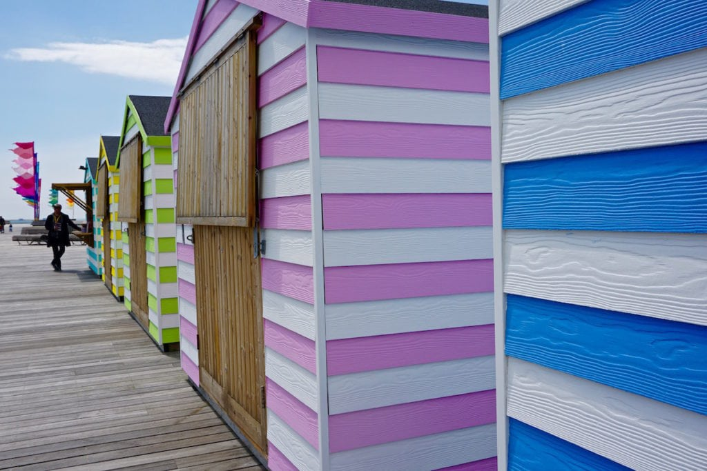 Beach huts on Hastings Pier