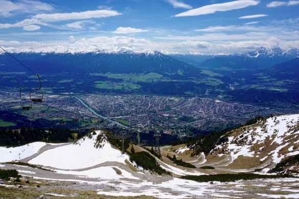 At the top of Nordkette near Innsbruck, Austria