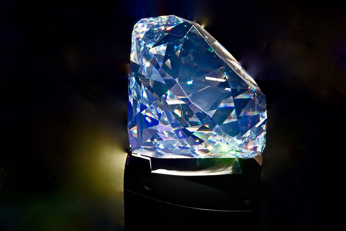 The largest hand cut Swarovski crystal in the world at Swarvski Crystal World, Austria