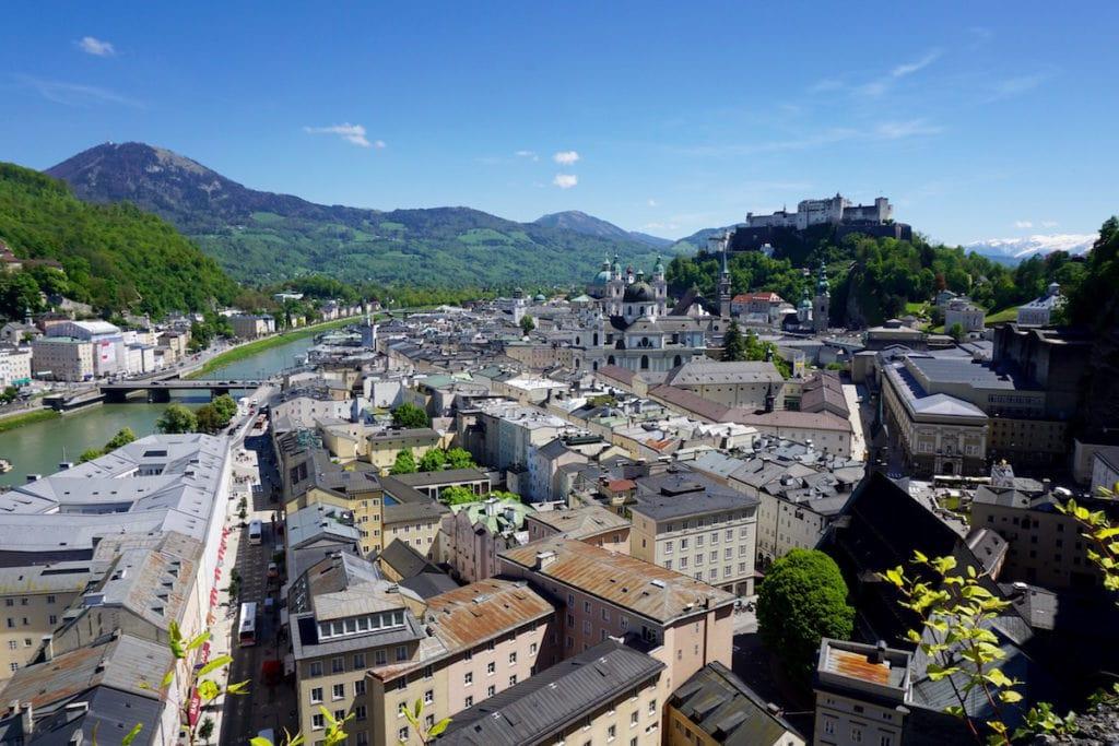 Views from M32 Restaurant at the Museum of Modern Art, Salzburg, Austria