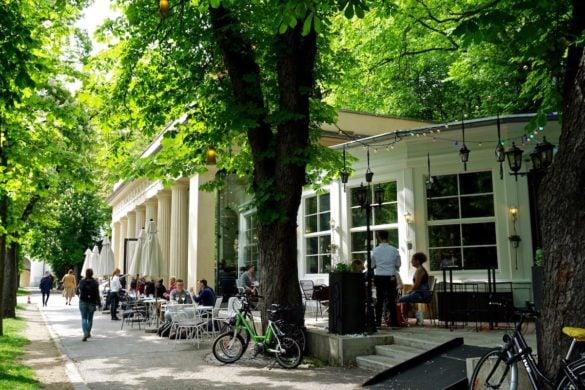 Picturesque cafe in Graz close to Burggarten